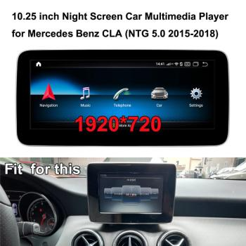 10.25 inch 1920*720 Android 10.0 GPS Navigation Car Multimedia player for Mercedes Benz CLA200 C117 X117 2015-2019 (NTG 5.0) image