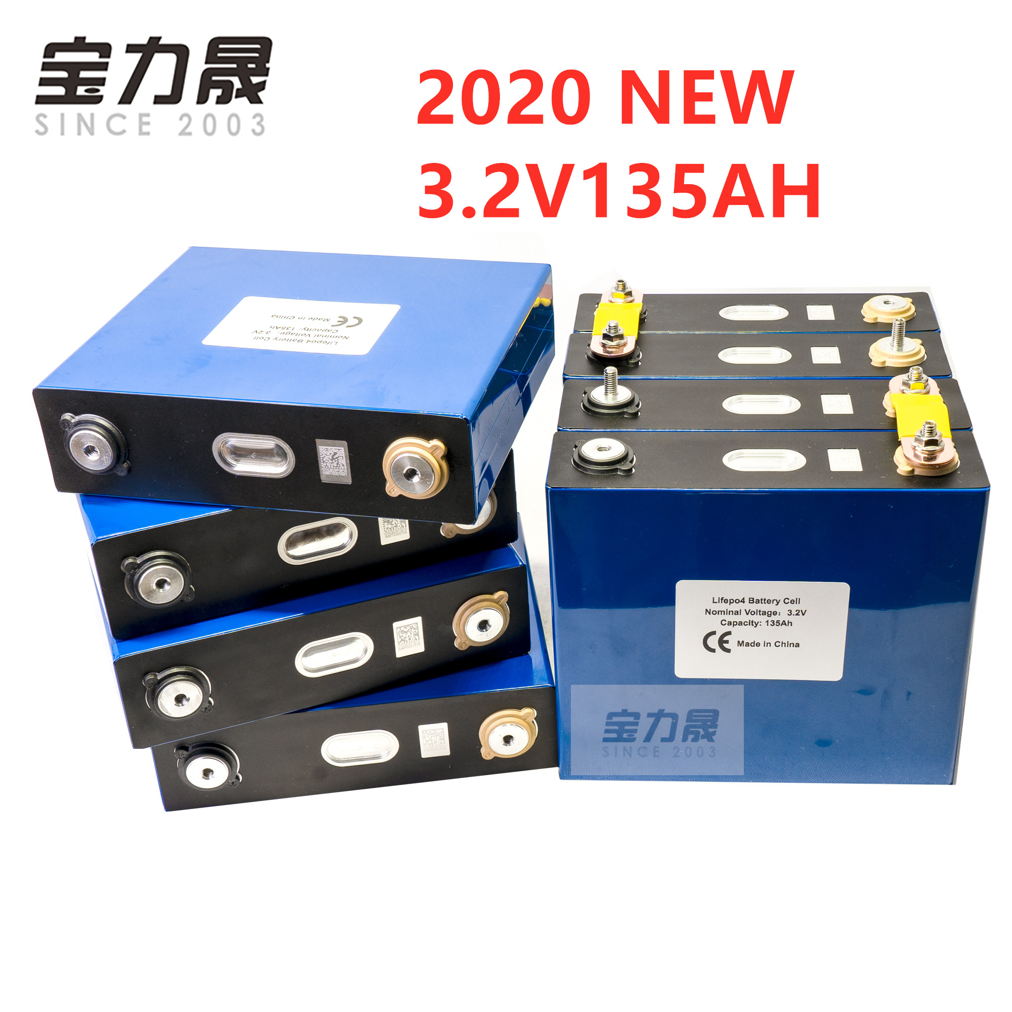 New 8PCS 3.2V 135AH Lifepo4 Rechargeable Battery Lithium Iron Phosphate Cell Solar 24V 12V Cells Not 120Ah 150ah EU US TAX FREE
