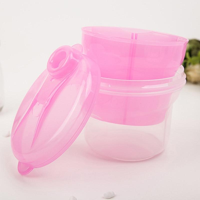 Portable Milk Powder Formula Dispenser 3 Layer Rotary Milk Powder Tank Box Baby Feeding Storage Box Toddler Food Container