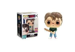Image 4 - POP Stranger things little Eleven with eggos Dustin Dart Steve Dustin Snowball Dance PVC Action Figure toys for chlidren Gift