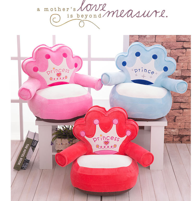 HOT Kids Comfy Soft Plush Chair Children Toddlers Armchair Seat Nursery Sofa US