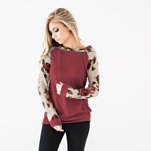 Plus Size S-3XL Floral Print Long Sleeve Hooded Sweatshirt 2019 Autumn Winter New Women Casual Slim Drawing Cotton Hoodies Femme