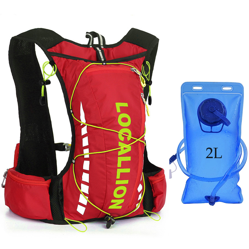 10L Women Men Marathon Hydration Vest Pack For 2L Water Bag Cycling Hiking Bag Outdoor Sport Trail Running Backpack