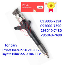 ORLTL 095000 7390 New Diesel Injector 295040 7480 295040 7490 Nozzle 2950407480 2950407490 For Toyota Hiace 2.5 D 2KD FTV Hilux