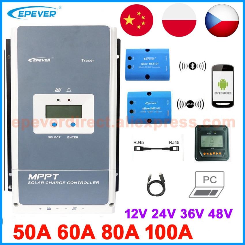 Контроллер заряда EPEVER MPPT на солнечной батарее, контроллер заряда 100A 80A 60A 50A, панель солнечных батарей 5415an 5420AN 6415