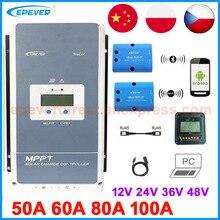 Epever mppt controlador de carga solar, controlador de carga solar tracer 100a 80a 60a 50a, regulador de bateria, painel de células solares, tracer5415an 5420an 6415