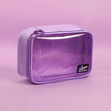 Transparent Star Cosmetic Bag Beauty Storage Case Wash Pouch Toiletry Bag Women PVC Small for Makeup Tools(China)