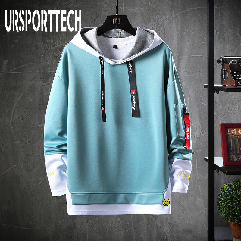 Spring Autumn Men Hoodies Sweatshirts Men Solid Fleece Streetwear Pullover Hoodie Men/Women Casual Hooded Sweatshirt Hip Hop