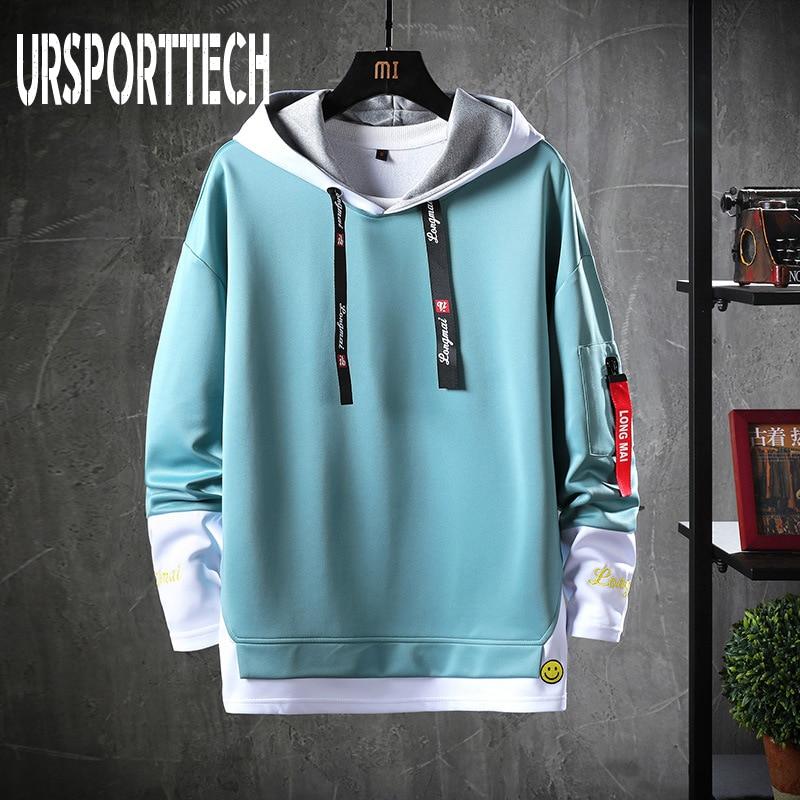 Spring Autumn Men Hoodies Sweatshirts Men Solid Fleece Streetwear Pullover Hoodie Men/Women Casual Hooded Sweatshirt Hip Hop