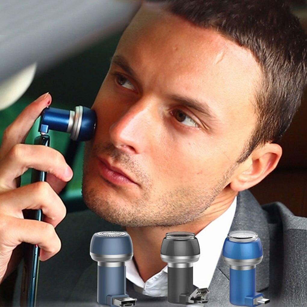 Men Mini Magnetic Phone Razor Waterproof Rechargeable Electric Shaver Portable Shaving Machine For Travel Micro USB/Type C