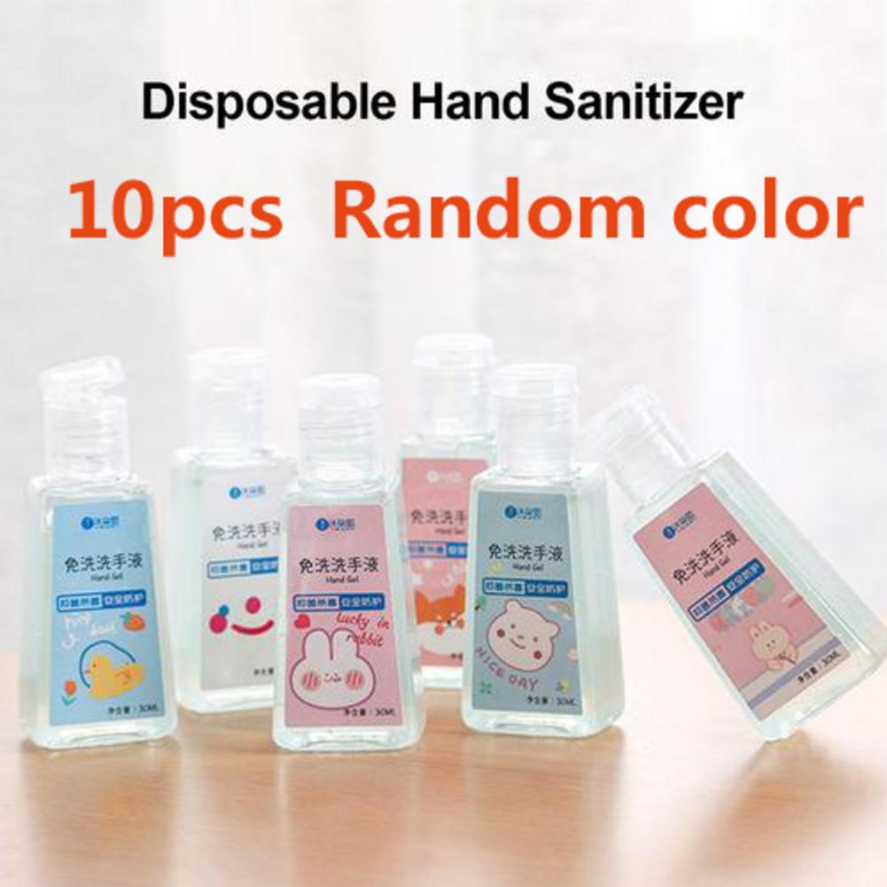 10Pcs Portable Mini Hand Sanitizer Gel Disposable Hand Cleaning Cartoon Cute Animal Fruity Quick-Dry Handgel For Kid Adult 30ml