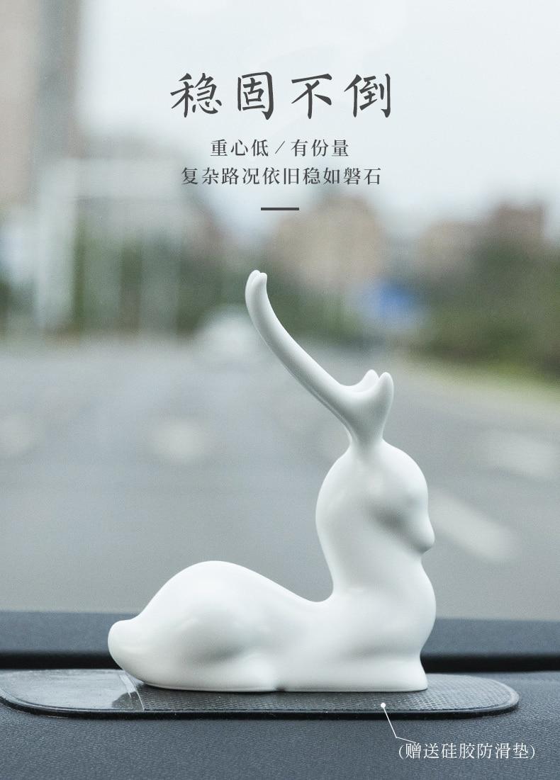 Abstrato artesanato estatueta carrinho animal bonito criativo