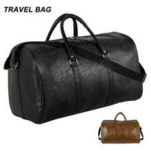 Качественная дорожная сумка черного цвета из искусственной кожи, парные дорожные сумки, ручная сумка для мужчин и женщин, модная дорожная сумка