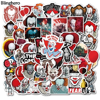 Blinghero Ghost Stickers 50Pcs/set Cool Clown Stickers Scrapbooking Stickers Luggage Car Stickers Decals Gift BH0466 1000 cool stickers
