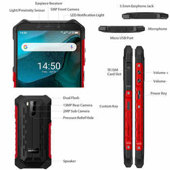 Ulefone Armor X5 IP68/IP69K Rugged Android 10.0 Shockproof Smartphone 5000mAh Octa Core 5.5\'\' OTG NFC 3GB 32GB 4G LTE Smartphone