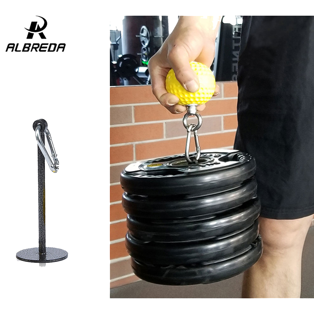 ALBREDA Weight Lifting Dumbbell Dumbbell Bracket Dumbbell Rack Fitness Grip Ball Dumbbell Holder Arm Exercise Accessories