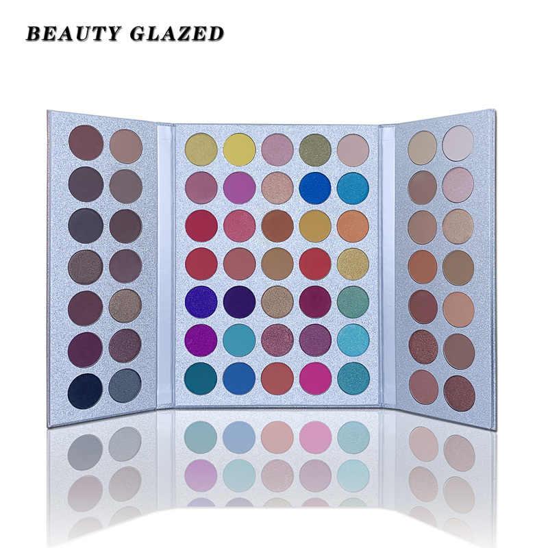美容施釉 63 色グリッターアイシャドウパレット palete はアイシャドウパレットを構成する長期的なアイシャドウマットシマーメイクアップ sombras