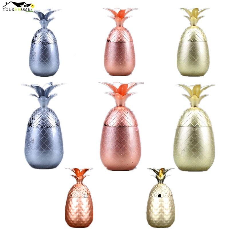 Кружка ананаса чашки с ананасами стакан Коктейльная кружка 3 цвета (серебро, медь, золото) Нержавеющая сталь Пивная чашка кружка МЕДНАЯ КРУЖКА