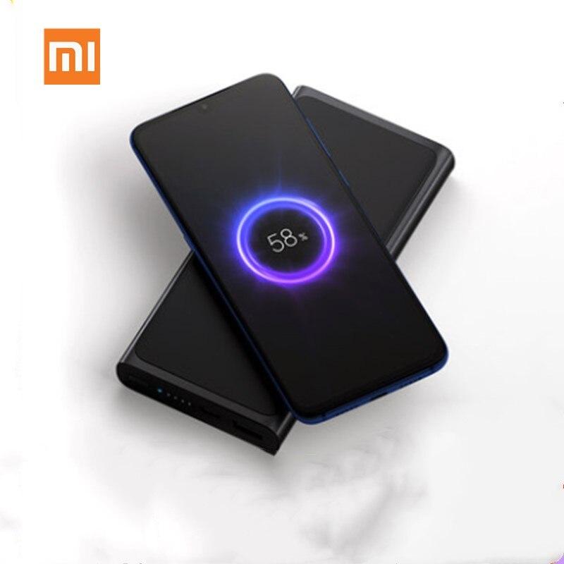 Original Xiao mi batterie externe sans fil officiel 10000mAh mi Powerbank 10000 Qi chargeur sans fil rapide Portable chargeur