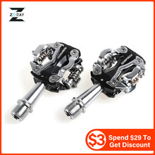 ZERAY MTB Mountain Bike Self-locking Pedals Cycling Clipless Pedals Aluminum Alloy SPD CR-MO Pedals Mtb Pedals Bike Pedals