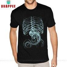 Cheap Alien Covenant Prometheus T Shirts for Men Plus Size Short Sleeve Cotton Black Crew T-Shirts