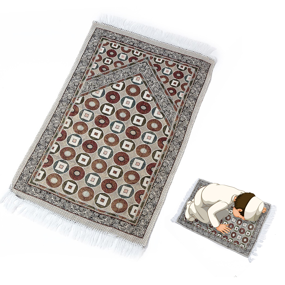 1/2/3/4/5Pcs Prayer Rugs Turkish Islamic Muslim Prayer Mat Floral Ramadan Eid Tassel Trim Decorative Carpet Random Pattern