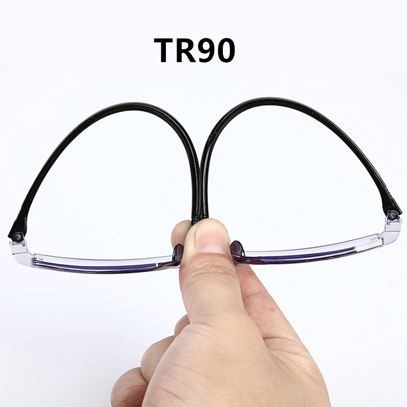 H3f3bfe7515494fc9a38a37e13f89ace9b - Men Women Rimless Reading Glasses Bifocal Far Near Anti Blue Light Magnification Eyewear Presbyopic Glasses Diopter +150 +200