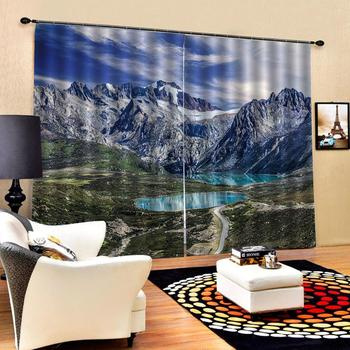 landscape curtains Luxury Blackout 3D Curtains For Living room Bedding room Office stereoscopic curtains