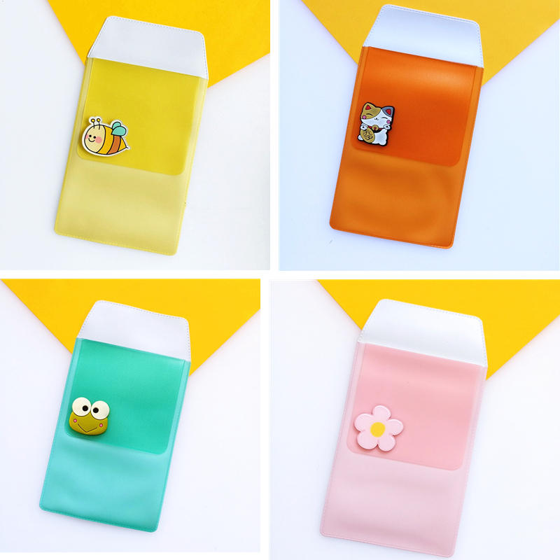 Pen-Holder Pocket Nurse-Pen-Case Animals Leak-Proof-Ink Cute Fruits Cartoon PVC for Doctor