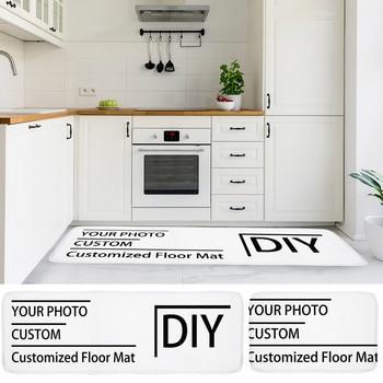 Alfombra personalizada estampada para baño moderno, tapete de cocina, pasillo, sala de...