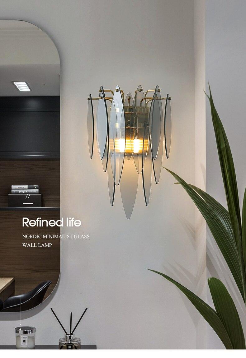 de parede quarto lâmpada de cabeceira corredor lâmpada de parede