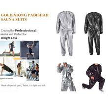 Sports Sweating Sauna Clothes Shaper Shirt Heavy Duty Black Weight Loss Exercise Suit Anti-rip Sport Fitness Fitness Workou M6K8