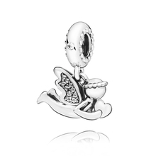 2019 Winter New Arrival 925 Sterling Silver Beads Angel of Love Dangle Charms fit Original Pandora Bracelets Women DIY Jewelry 2019 autumn new 925 sterling silver beads tree of love dangle charms fit original pandora bracelets diy jewelry for women