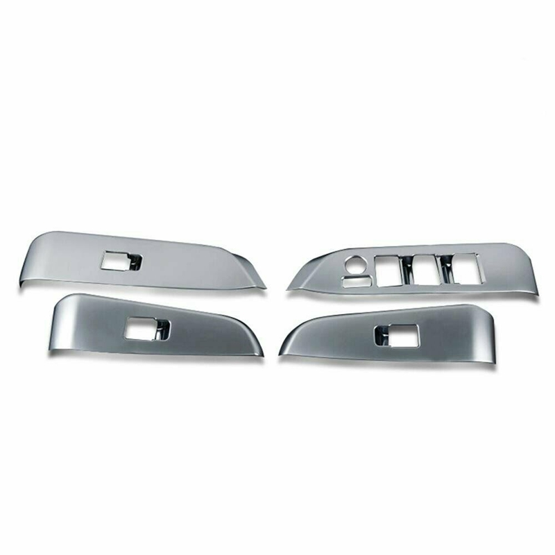 Fit For Toyota Highlander 14-2019 Car Chrome Door Window Switch Panel Cover Trim
