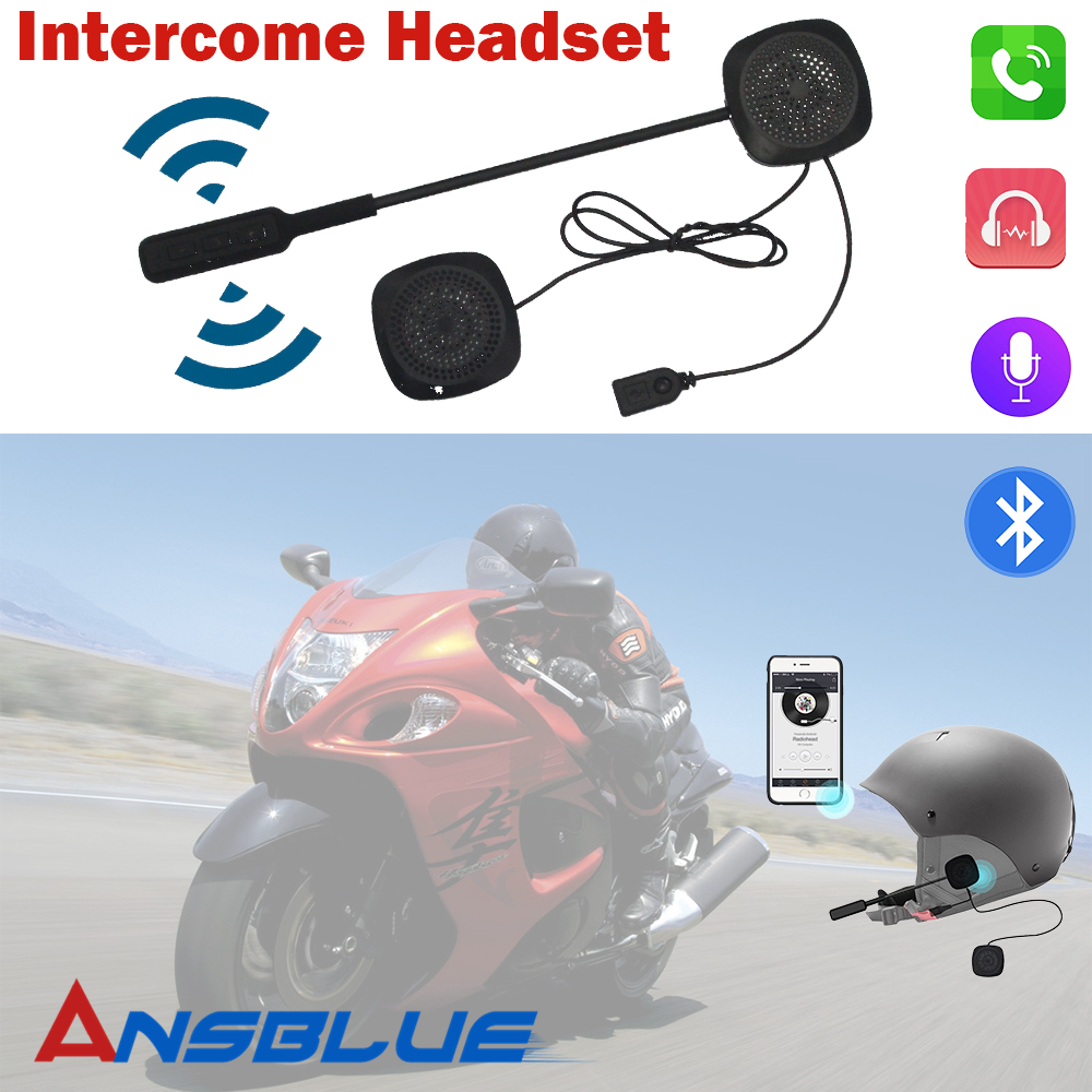 Motorbike Headset Headphone Speaker Handsfree Motorcycle Helmet Bluetooth Headset For Music GPS Motorcycle Electronics Styling