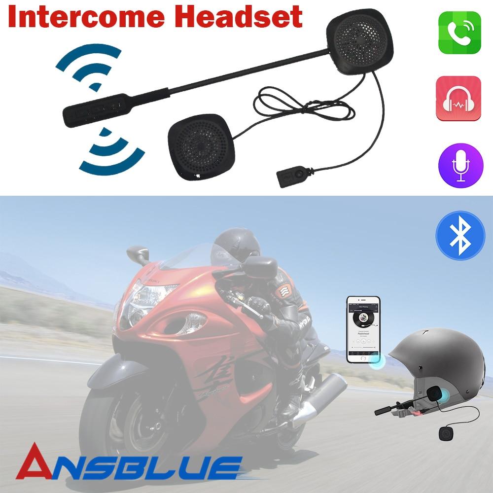 Motorbike Headset Headphone Speaker Handsfree Motorcycle Helmet Bluetooth Headset For Music GPS Motorcycle Electronics Styling