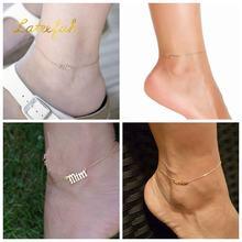 Персональная нестандартная именное женское ног ювелирные изделия