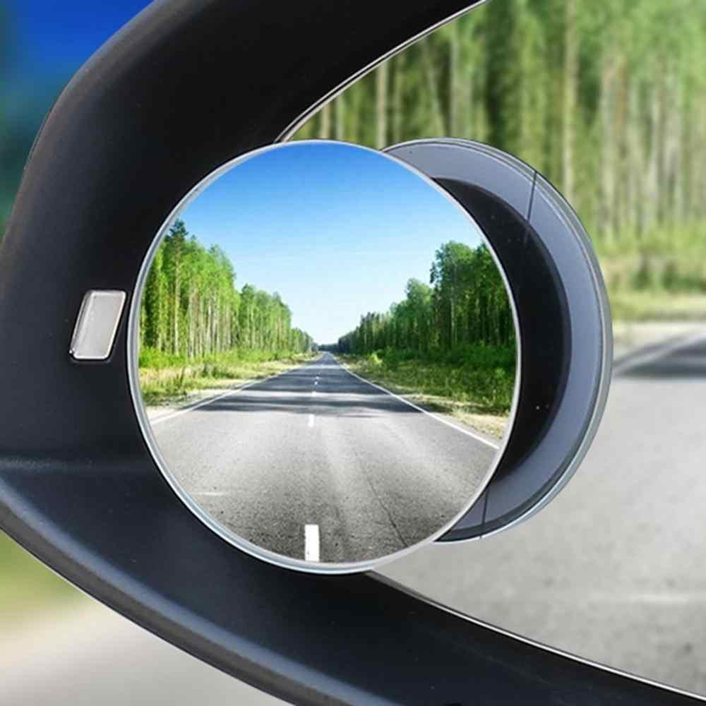 小さなラウンドミラー 360 度反転させるブラインドスポットミラー凸面鏡レンズリアビューミラーガラスセンチメートルボーダレス小さなラウンドミラー