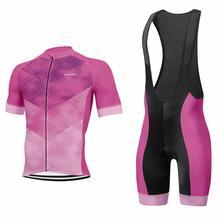 цена на 2020 New cycling jersey men short sleeve bib shorts Gel Pad pro bike wear jersey set cycling clothing MTB road short set 9D