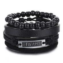 Ifmia винтажный многослойный браслет с бусинами для мужчин 2019