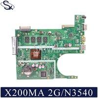 KEFU X200MA 노트북 마더 보드 ASUS X200MA F200MA 오리지널 마더 보드 2GB-RAM N3540 CPU