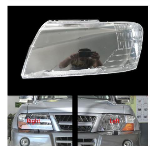Car Front Head Light Lamp Cover For 2003-2007 Mitsubishi Pajero V73 Headlight Head Light Lamp Waterproof Clear Lens Auto Shell