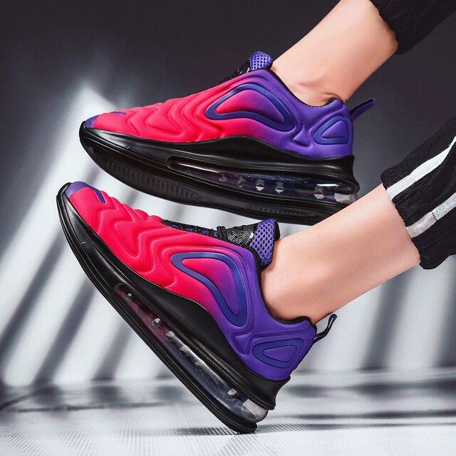 النساء أحذية أحذية رياضية وسادة هوائية المدربين أحذية امرأة منصة حذاء رياضة الخريف الشتاء الأحذية تنفس لينة سلة فام