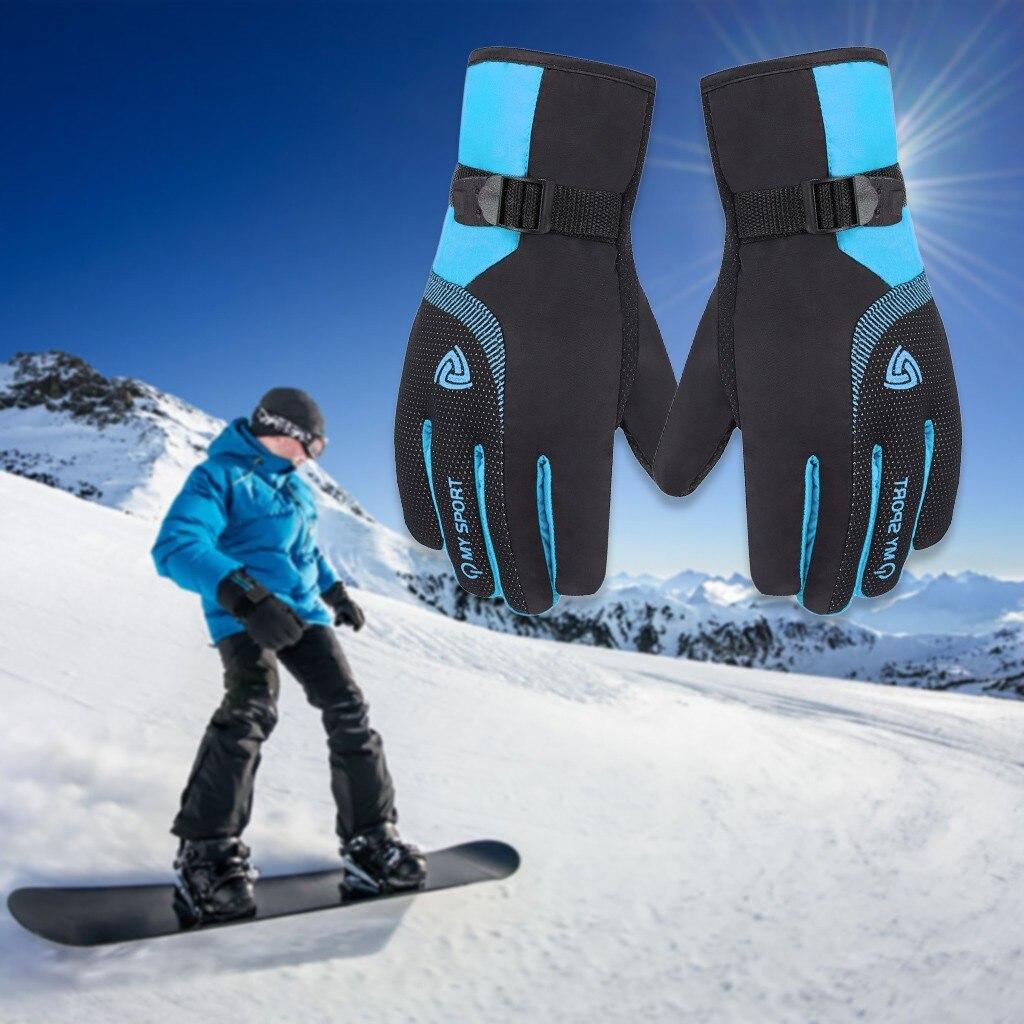 Зимние перчатки для женщин Водонепроницаемый ветрозащитный противоскользящие Спорт на открытом воздухе Зимние теплые Термальность барха...
