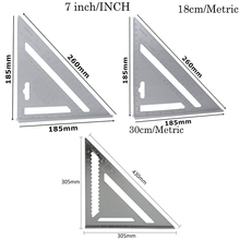 30cm New Aluminum Alloy Speed Square Roofing Triangle Angle Protractor Try Square Carpenter's Measuring Layout Tool woodworking ruler square triangle ruler for speed square triangle angle protractor laser engraving carpenter measuring tools