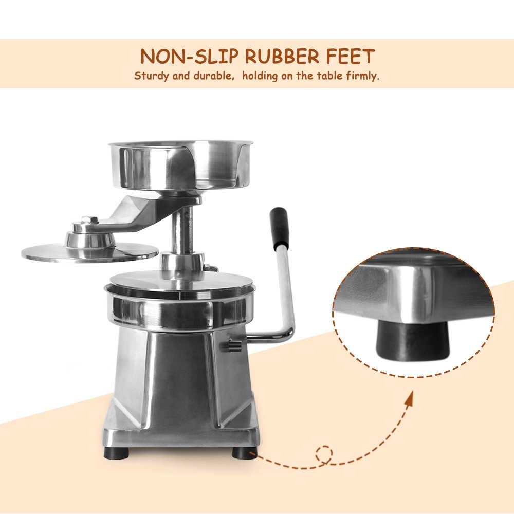Handleiding 150 Mm Burger Making Machine Voor Schnitzels Keuken/Commerciële Hamburger Druk Met 500 Pcs Olie-Absorberend Papier