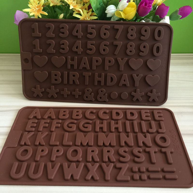1pcs UV Resin Jewelry Liquid Silicone Mold 3D English Letter Number Resin Charms Mold for DIY Intersperse Decorate Making Molds