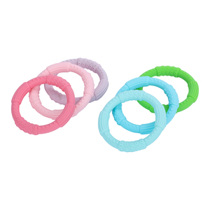 Image 2 - 3 sztuk ząbkowanie bransoletka dla dzieci silikonowa bransoletka typu Bangle dla dzieci dla dzieci do karmienia opaska na nadgarstek gryzak biżuteria przypominająca jedzenie klasy silikonowe BPA darmo