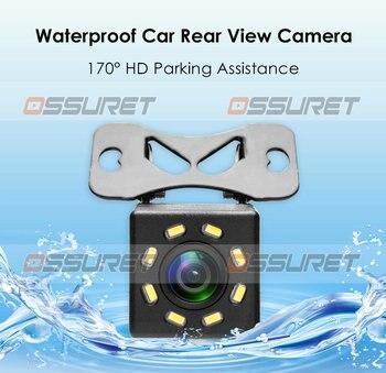 Ossuret câmera de visão traseira do carro para dvd reversa backup estacionamento câmera 120 graus corpo metal 480 p câmera reversa