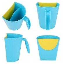 Детские купальные душевые ложки, милые Мультяшные Детские шапочки для ванны, шампунь, чашка для мытья волос, детский банный инструмент